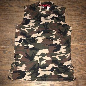 Camp crop shirt